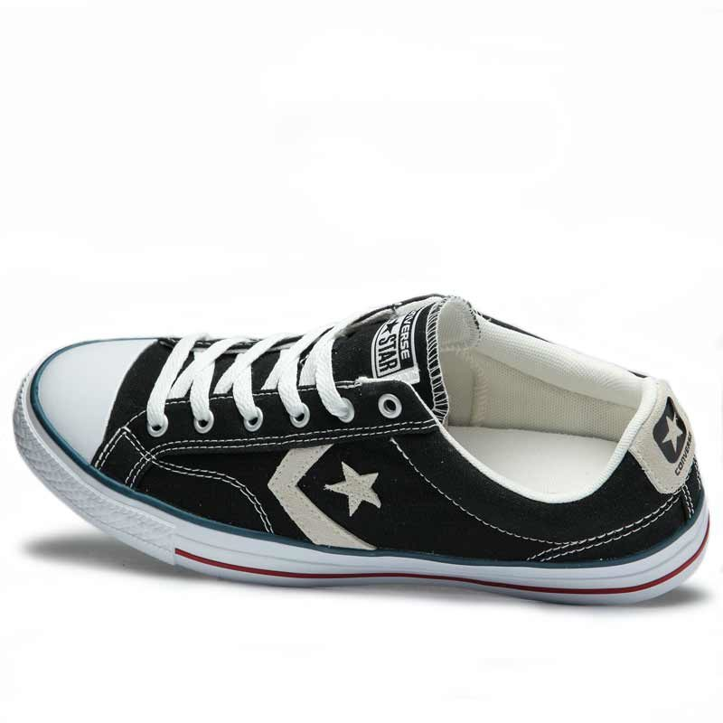Converse boty Star Player OX Black Milk left angle