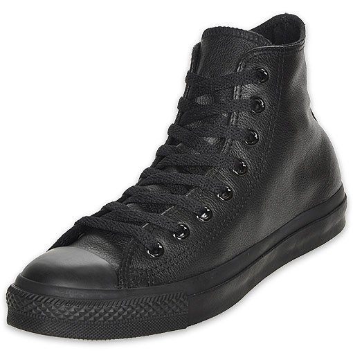 C135251 Converse boty Leather All Star Black Monochrome