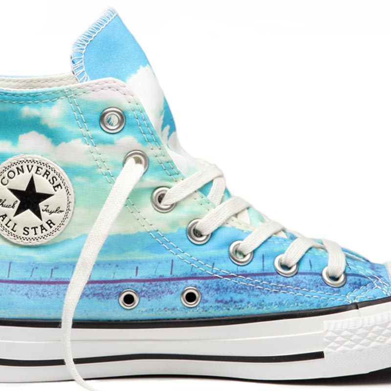 Converse boty Chuck Taylor All Star Spray Paint Blue main