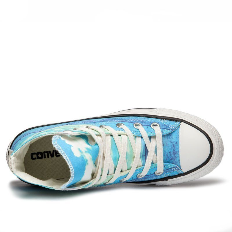 Converse boty Chuck Taylor All Star Spray Paint Blue top