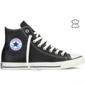 Converse kozene boty Chuck Taylor Leather Black back right