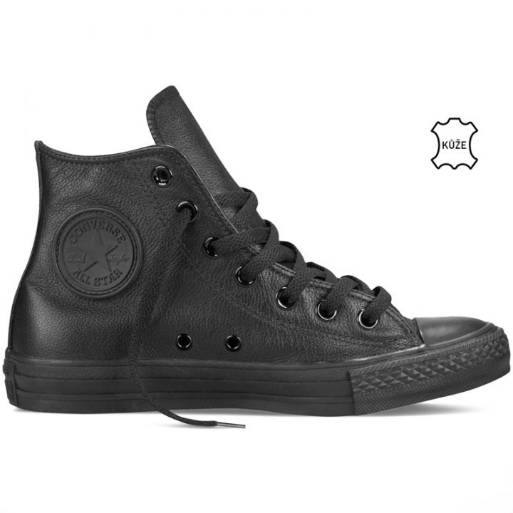 Converse boty Leather All Star Black Monochrome