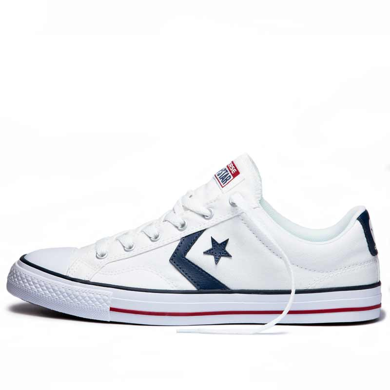 Converse boty Star Player OX White Navy left