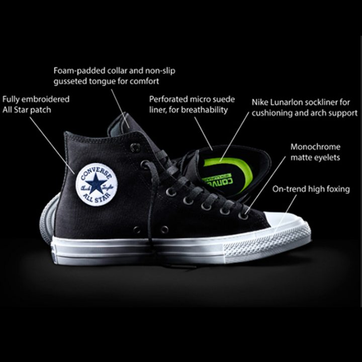 Converse boty Chuck Taylor All Star II Core Black detail3