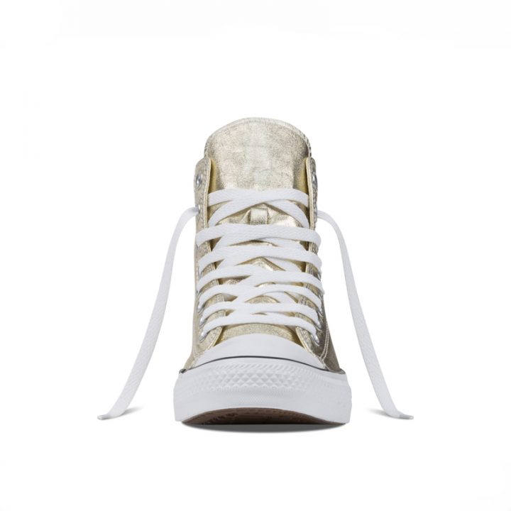 Converse boty Chuck Taylor All Star Hi Light Gold Metallics front
