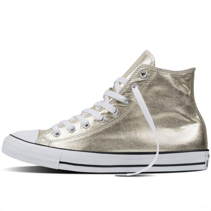 Converse boty Chuck Taylor All Star Hi Light Gold Metallics left