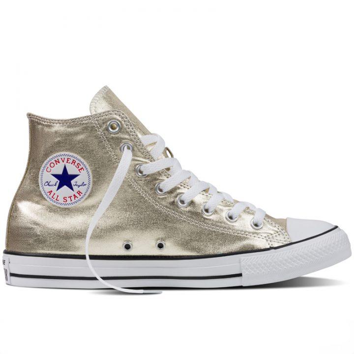 Converse boty Chuck Taylor All Star Hi Light Gold Metallics right