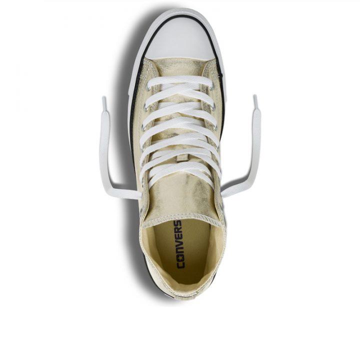 Converse boty Chuck Taylor All Star Hi Light Gold Metallics top