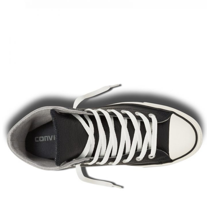 Converse boty Chuck Taylor Black Leather Wool top
