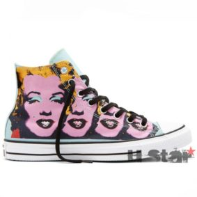 Converse boty All Star Andy Warhol Marilyn Monroe right