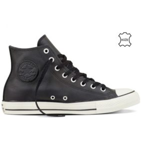 Converse boty Chuck Taylor All Star Tumbled Leather High Top Black full