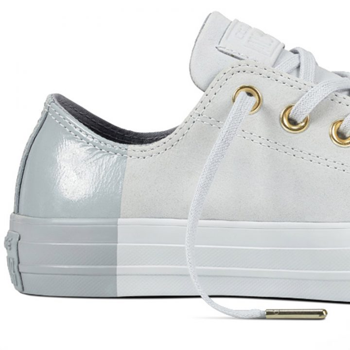 Boty kozene Converse Chuck Taylor All Star Blocked Nubuck Pure Pure Platinum detail