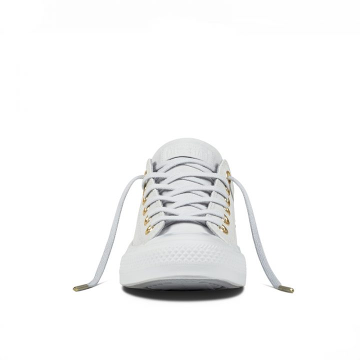 Boty kozene Converse Chuck Taylor All Star Blocked Nubuck Pure Pure Platinum front