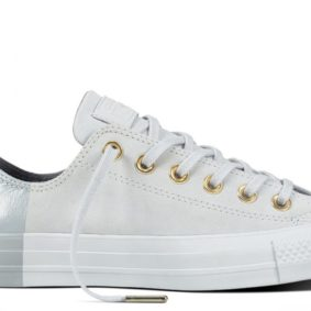 Boty kozene Converse Chuck Taylor All Star Blocked Nubuck Pure Pure Platinum main