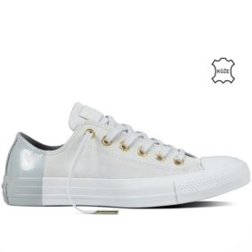 Boty kozene Converse Chuck Taylor All Star Blocked Nubuck Pure Pure Platinum right