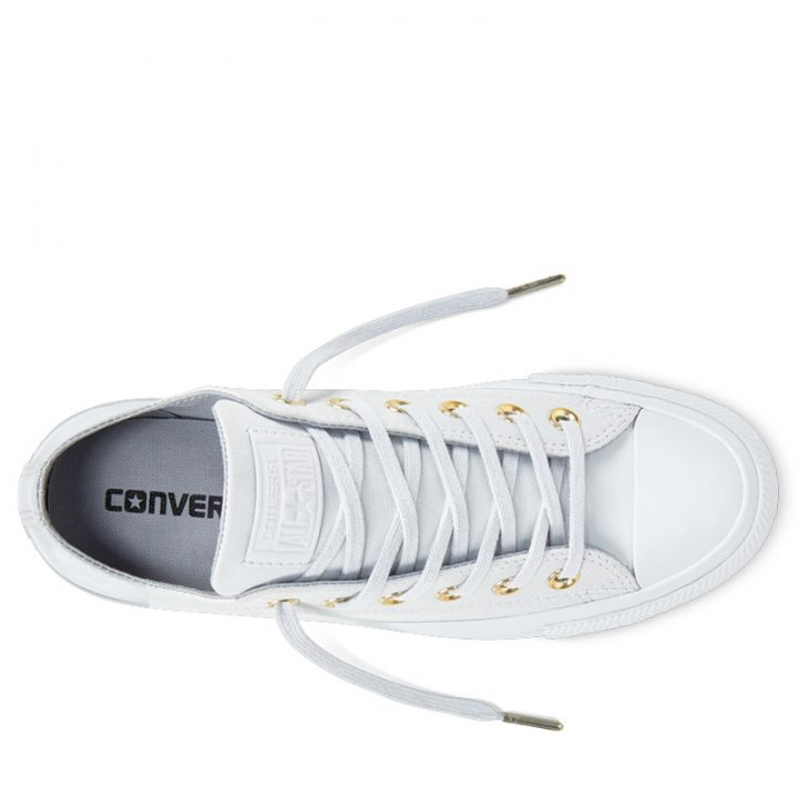 Boty kozene Converse Chuck Taylor All Star Blocked Nubuck Pure Pure Platinum top