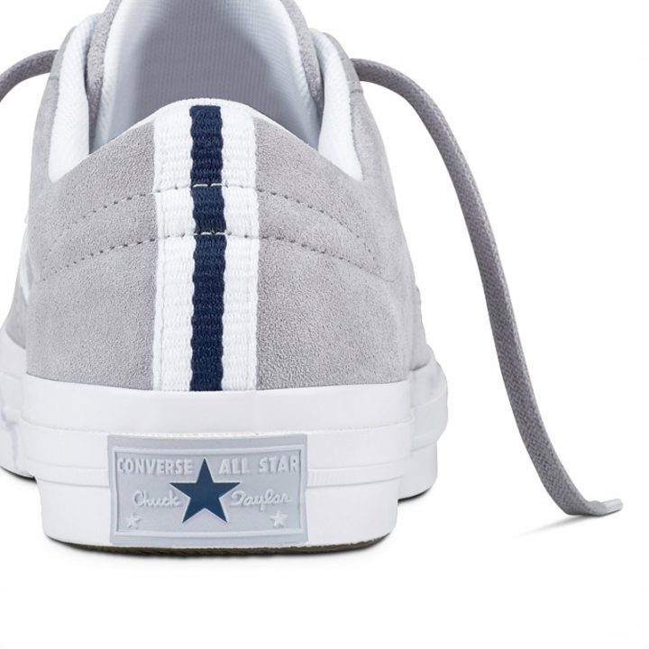Boty Converse One Star Suede Modler Star Golf Grey detail1