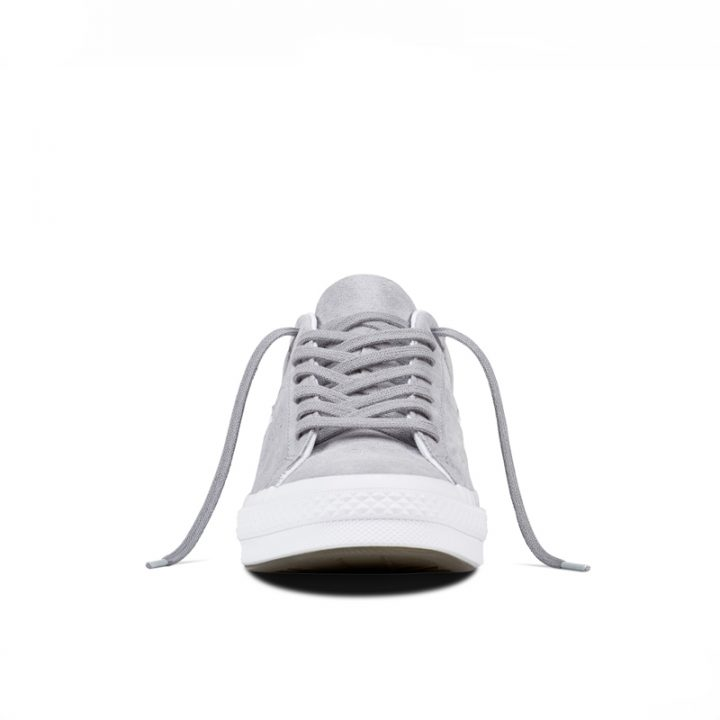 Boty Converse One Star Suede Modler Star Golf Grey front