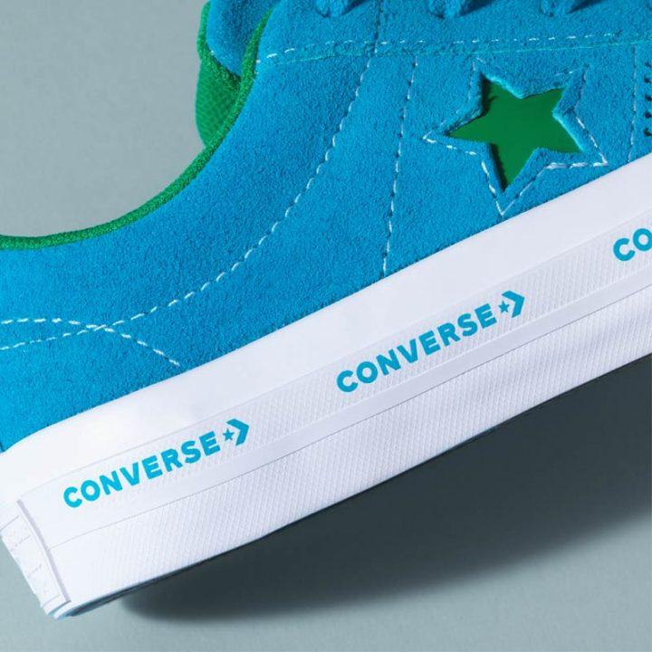 Converse boty One Star OX Hawaiian Ocean sole logo