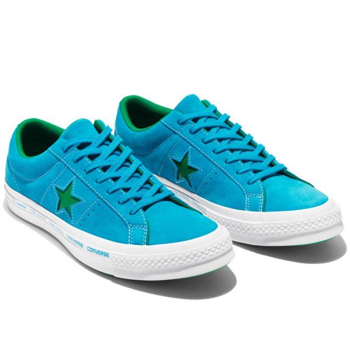 Converse boty One Star OX Hawaiian Ocean pair2