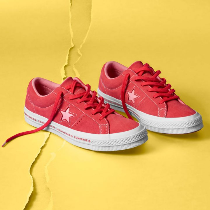 Converse boty One Star OX Paradise Pink promo1