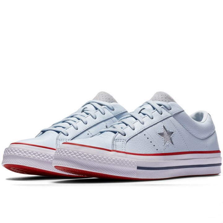 Boty Converse One Star Heritage Low Top Blue Tint pair
