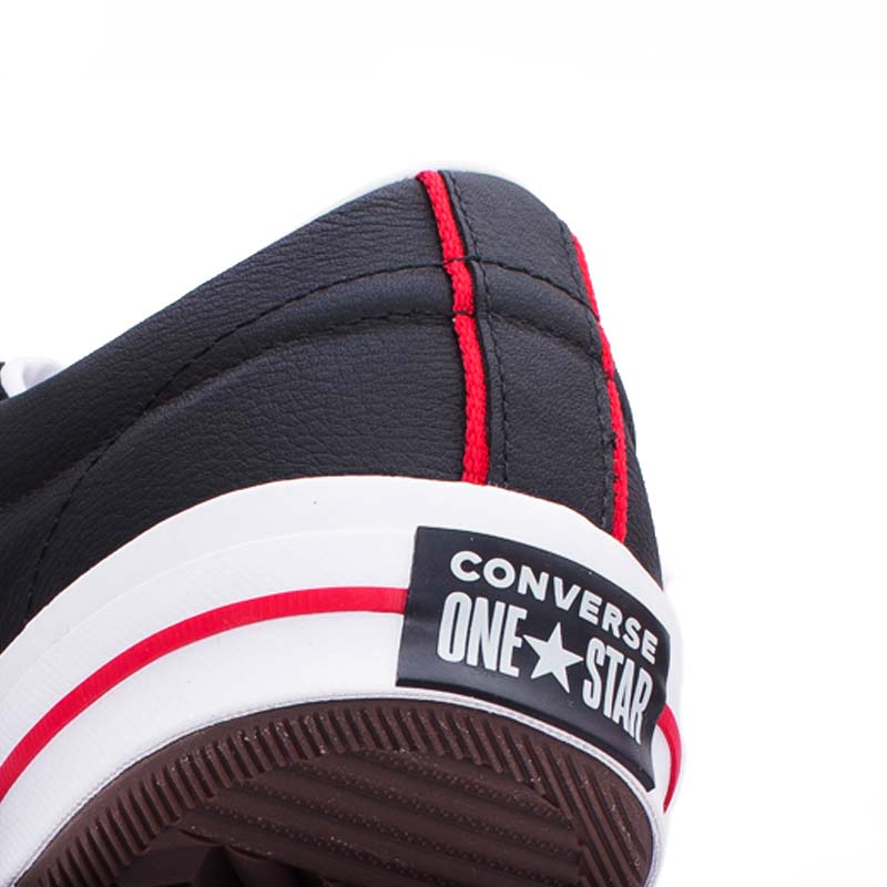 Converse boty One Star Ox Leather Black detail