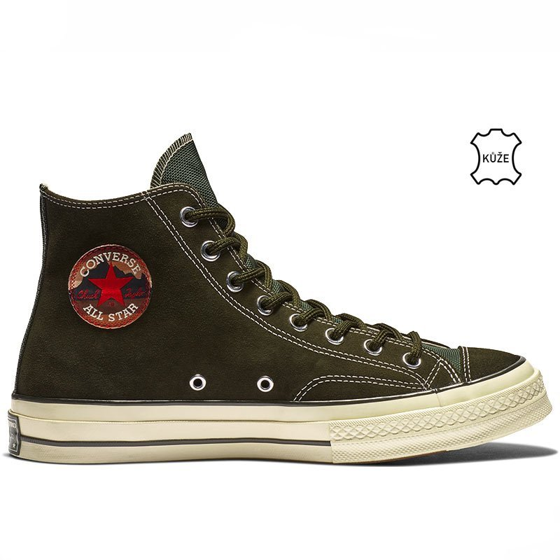 Converse boty Chuck Taylor All Star 70 Base Camp Suede High Top Utility Green right