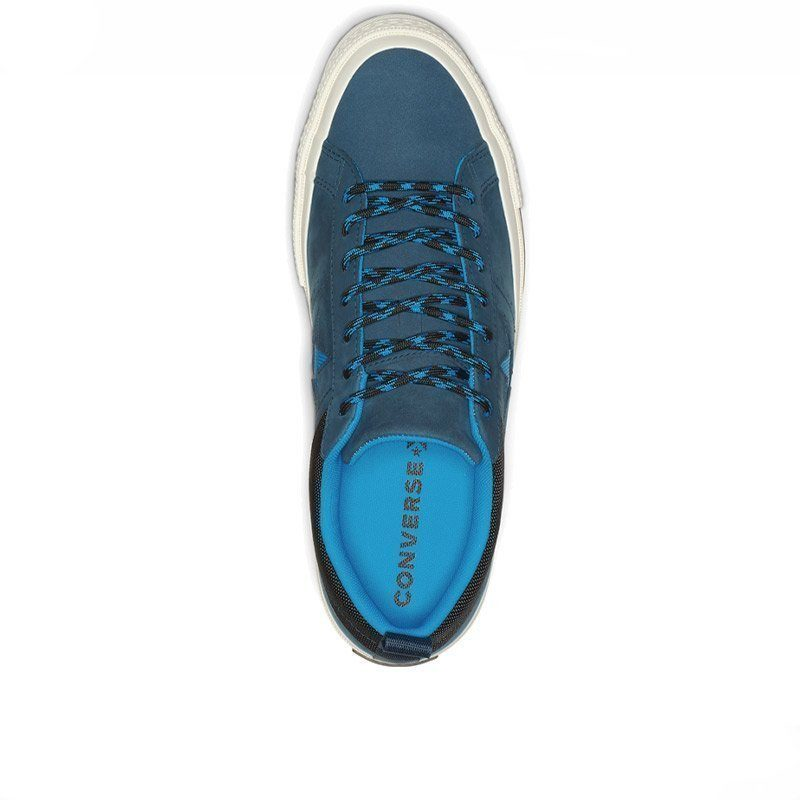 Converse boty One Star Sierra Leather Low Top Blue Fir top