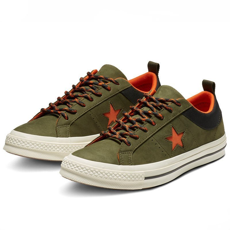 Converse boty One Star Sierra Leather Low Top Utility Green angle