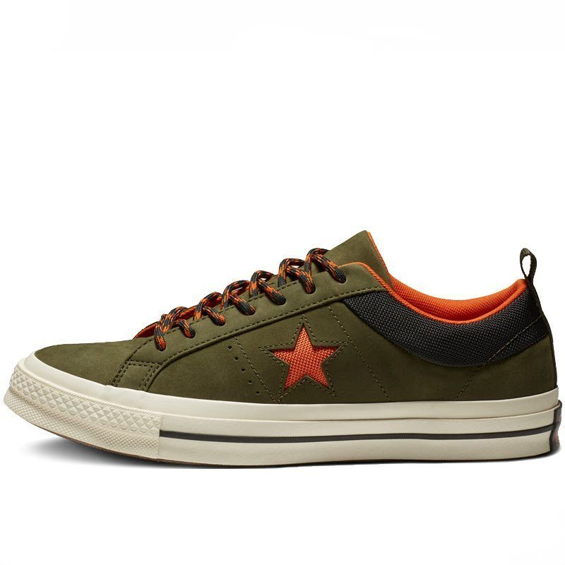 Converse boty One Star Sierra Leather Low Top Utility Green left