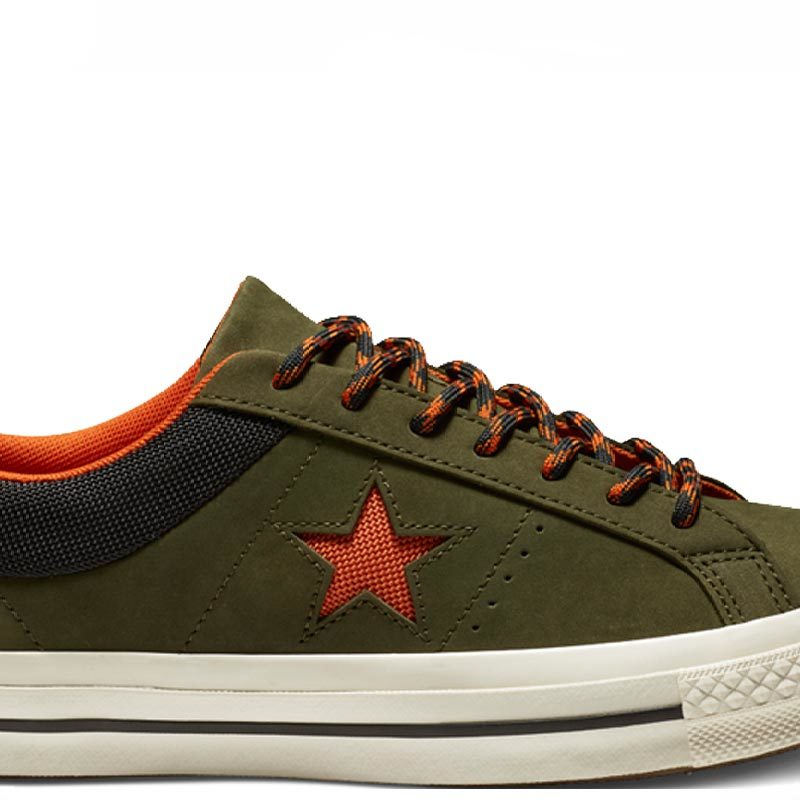 Converse boty One Star Sierra Leather Low Top Utility Green main