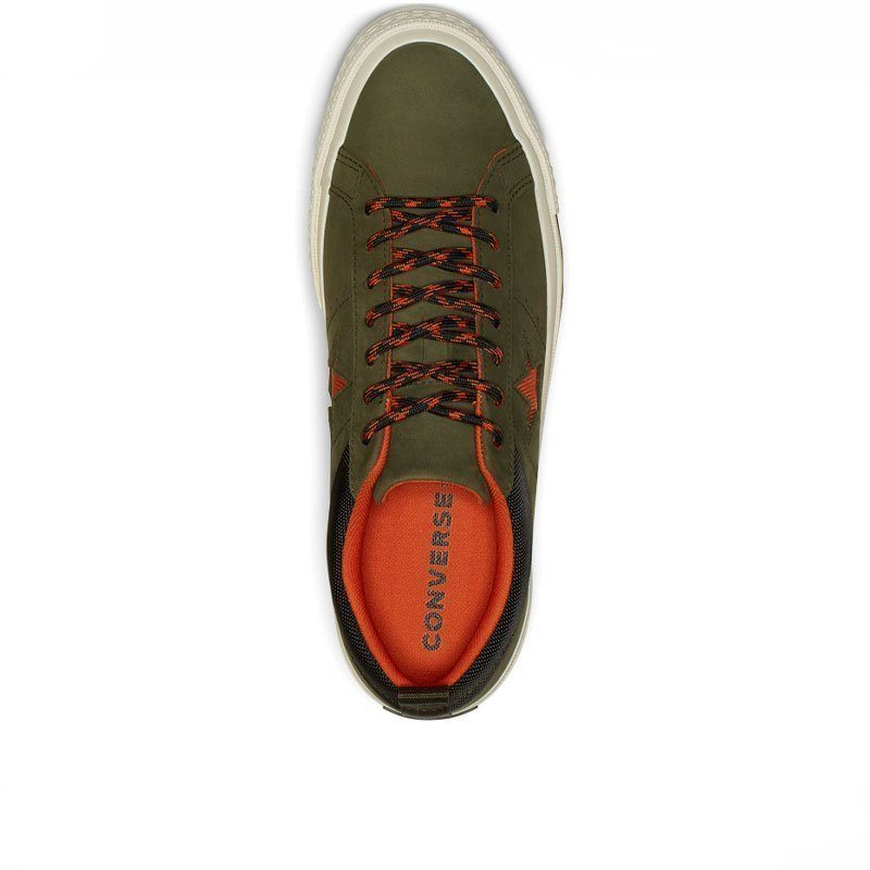 Converse boty One Star Sierra Leather Low Top Utility Green top