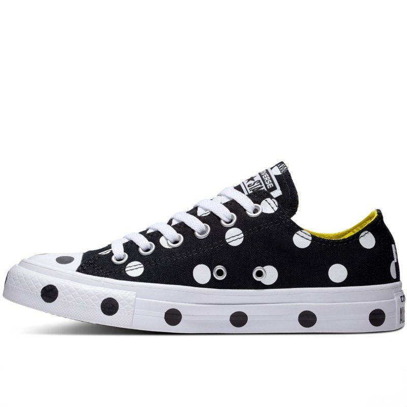 Converse boty Chuck Taylor All Star Dots Black Low left