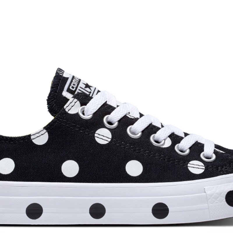Converse boty Chuck Taylor All Star Dots Black Low main