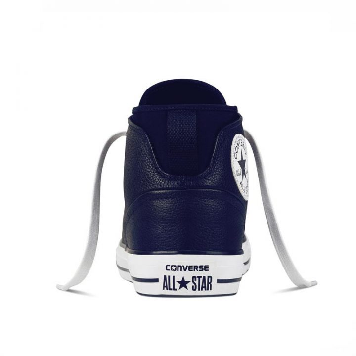 Converse boty Chuck Taylor All Star Street Leather Midnight Navy back