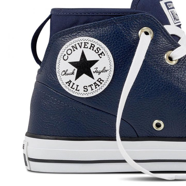 Converse boty Chuck Taylor All Star Street Leather Midnight Navy detail2