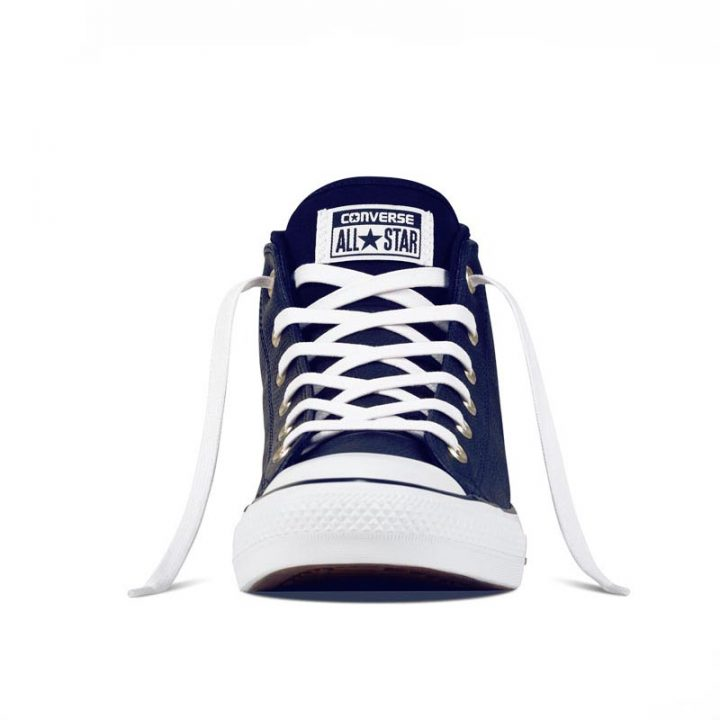 Converse boty Chuck Taylor All Star Street Leather Midnight Navy front