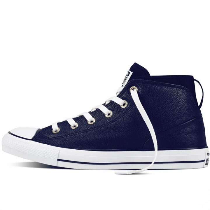 Converse boty Chuck Taylor All Star Street Leather Midnight Navy left
