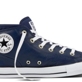 Converse boty Chuck Taylor All Star Street Leather Midnight Navy main