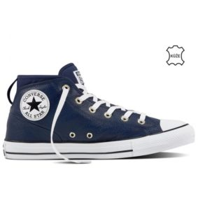Converse boty Chuck Taylor All Star Street Leather Midnight Navy right