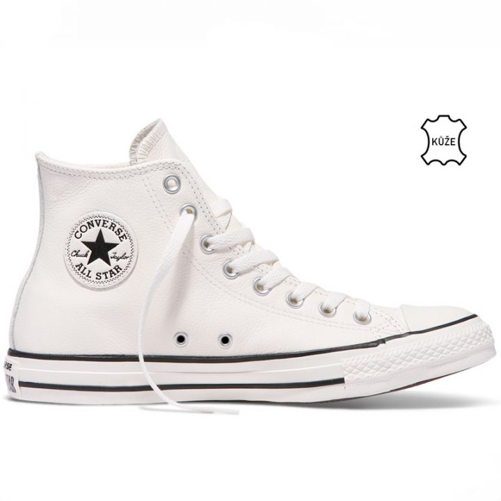 Converse boty Chuck Taylor All Star Tumbled Leather High Top Egret right