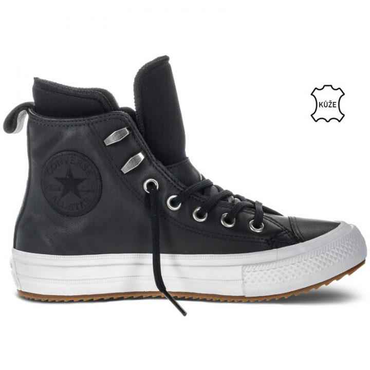 Converse boty Chuck Taylor WP Boot Leather Black right