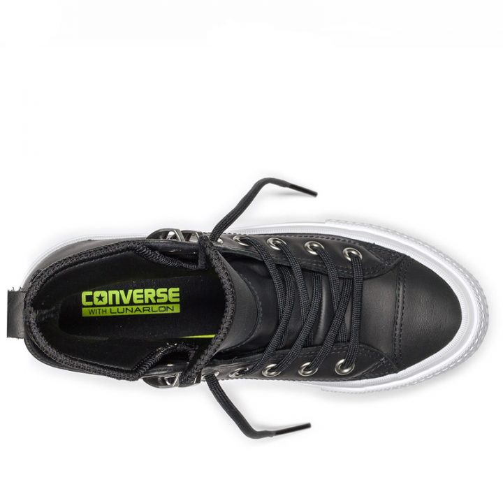 Converse boty Chuck Taylor WP Boot Leather Black top