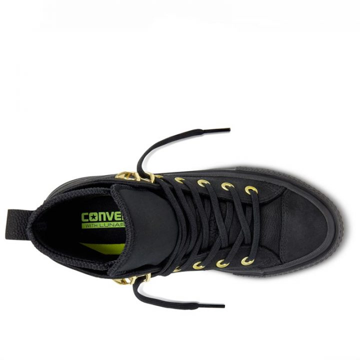 Converse boty Chuck Taylor WP Nubuck Boot Black top