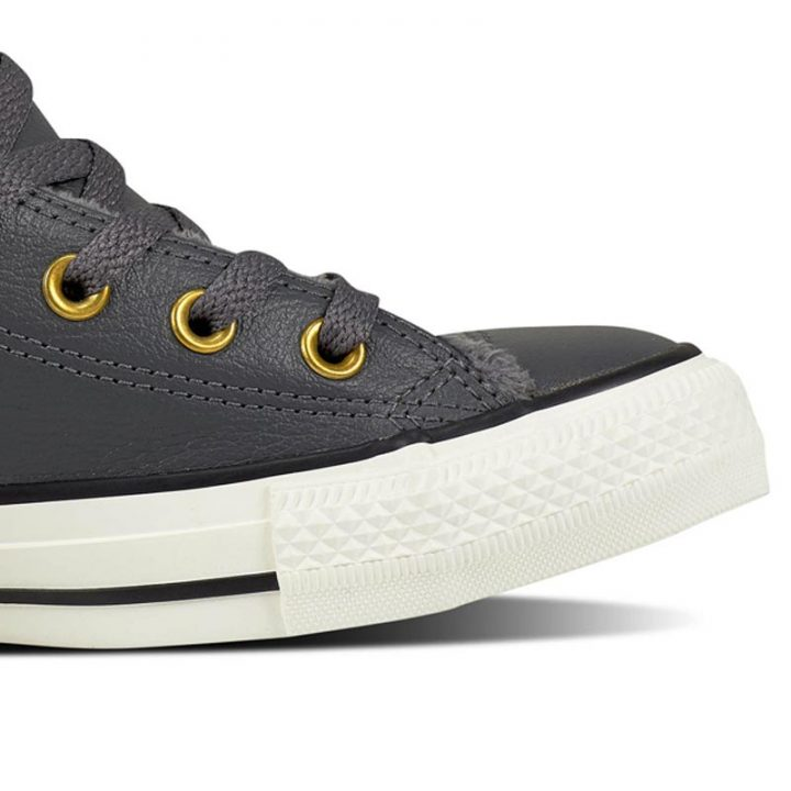 Converse boty Chuck Taylor Leather + Fur Hi Thunder detail