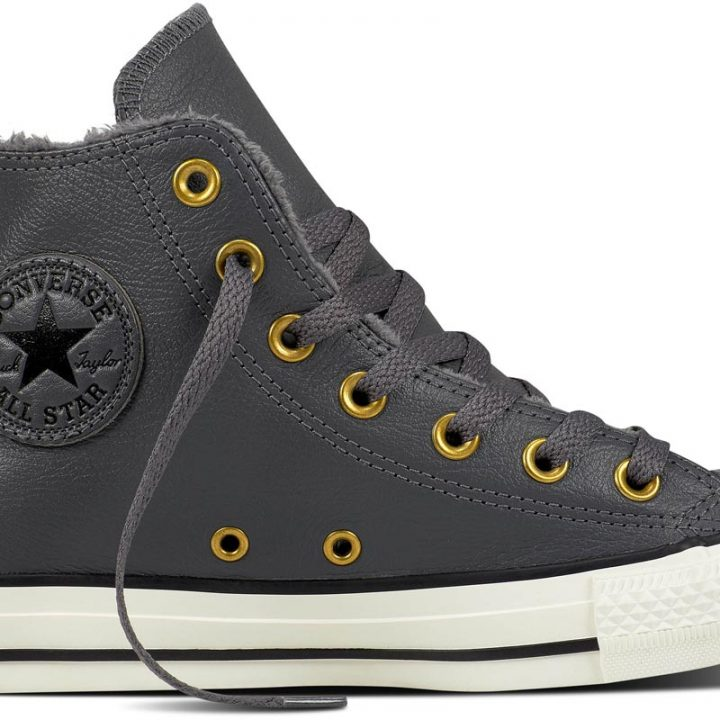 Converse boty Chuck Taylor Leather + Fur Hi Thunder main
