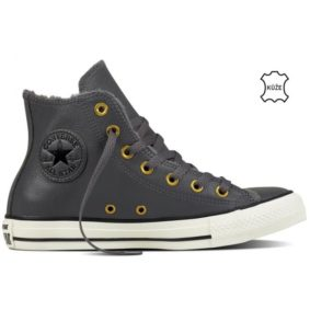 Converse boty Chuck Taylor Leather + Fur Hi Thunder right