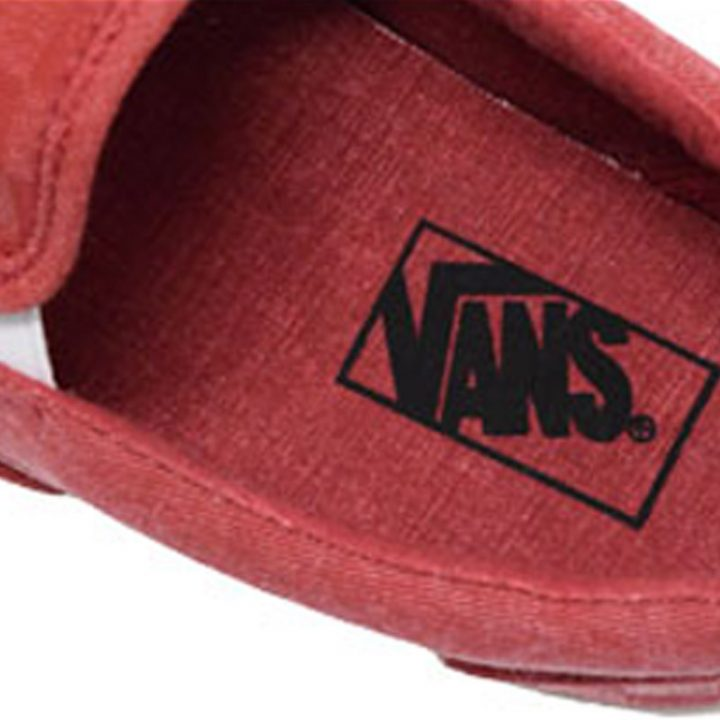 Vans boty Classic Slip-on Overwashed Red insole