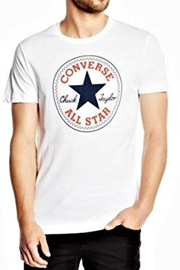 triko Converse Core Chuck Patch Tee White